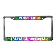 Hippie Lakeland Terrier License Plate Frame