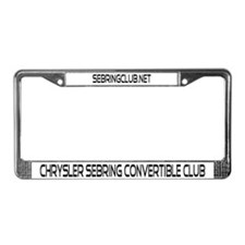 Sebring Convertible License Plate Frame