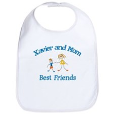 Xavier and Mom - Best Friends Bib