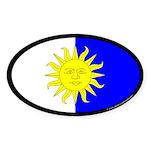 Atenvelt Populace Oval Sticker (50 pk)