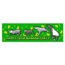 Happy Tapir Banana Party Bumper Sticker (50 pk)
