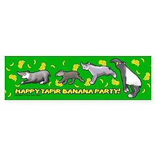 Happy Tapir Banana Party Bumper Bumper Sticker