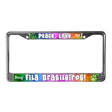 Hippie Fila Brasileiro License Plate Frame