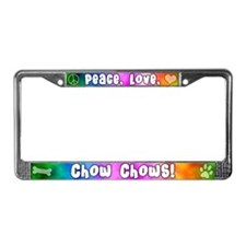 Hippie Chow Chow License Plate Frame