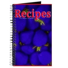 Blue Strawberry Blank Recipe Book 2