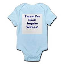 Parents For Rent Inquire with Infant Bodysuit