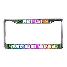 Hippie Australian Kelpie License Plate Frame