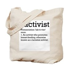 Lactivist - definition Tote Bag