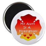 "Firefighter Aunt 2.25"" Magnet (100 pack)"
