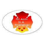 Firefighter Aunt Oval Sticker (10 pk)