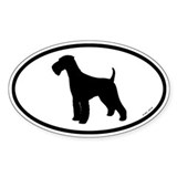 Euro Airedale Terrier Oval Sticker (50 pk)