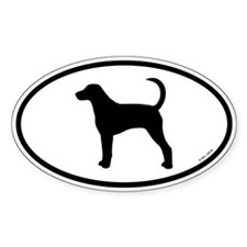 American Foxhound Oval Sticker (10 pk)