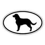 American Water Spaniel Oval Sticker (50 pk)