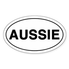 AUSSIE Oval Sticker (10 pk)