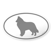 Belgian Sheepdog Oval Sticker (50 pk)