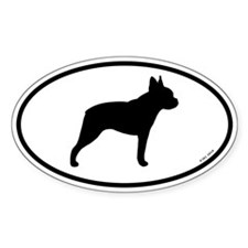 Boston Terrier Oval Sticker (10 pk)