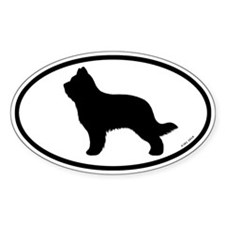 Briard Oval Sticker (50 pk)