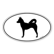Canaan Dog Oval Sticker (50 pk)