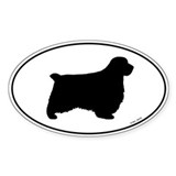 Clumber Spaniel Oval Sticker (50 pk)