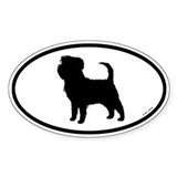 Euro Affenpinscher Oval Sticker (50 pk)