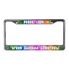 Hippie Green Cheeked Conure License Plate Frame