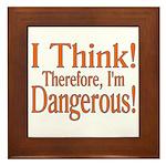 I Think! Framed Tile