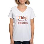 I Think! Women's V-Neck T-Shirt