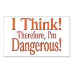 I Think! Rectangle Sticker