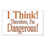 I Think! Rectangle Sticker 50 pk)