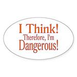 I Think! Oval Sticker (50 pk)