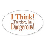 I Think! Oval Sticker
