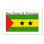 Sao Tome & Principe Rectangle Sticker