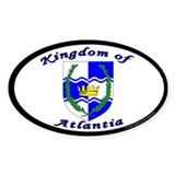 Atlantia Oval Sticker (10 pk)