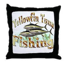 Yellowfin Tuna Fishing Throw Pillow