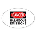 DANGER Oval Sticker (10 pk)