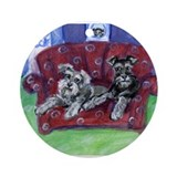 Schnauzer Mooove Over Ornament (Round)