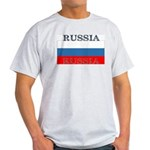 Russia Russian Flag Ash Grey T-Shirt