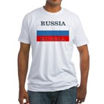 Russia Russian Flag Fitted T-Shirt
