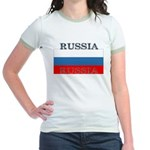 Russia Russian Flag Jr. Ringer T-Shirt