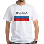 Russia Russian Flag White T-Shirt