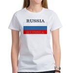 Russia Russian Flag Women's T-Shirt