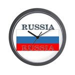 Russia Russian Flag Wall Clock