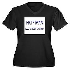 Half Man Half Spider Monkey Women's Plus Size V-Ne