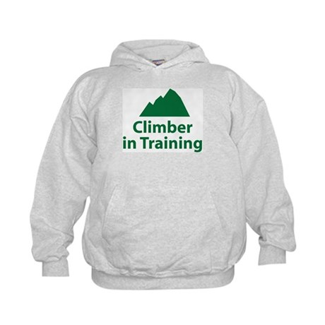 Climber in Training Kids Hoodie