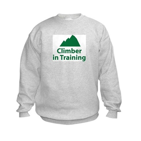 Climber in Training Kids Sweatshirt