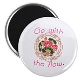 Go With the Flow Yoga Magnet