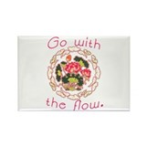 Go With the Flow Yoga Rectangle Magnet (100 pack)