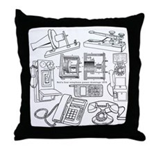 Telephone History Throw Pillow