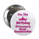 1st Birthday Princess's Great 2.25&amp;quot; Button