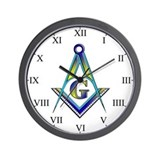 "Masonic ""IIII"" Conversation Piece Wall Clock"